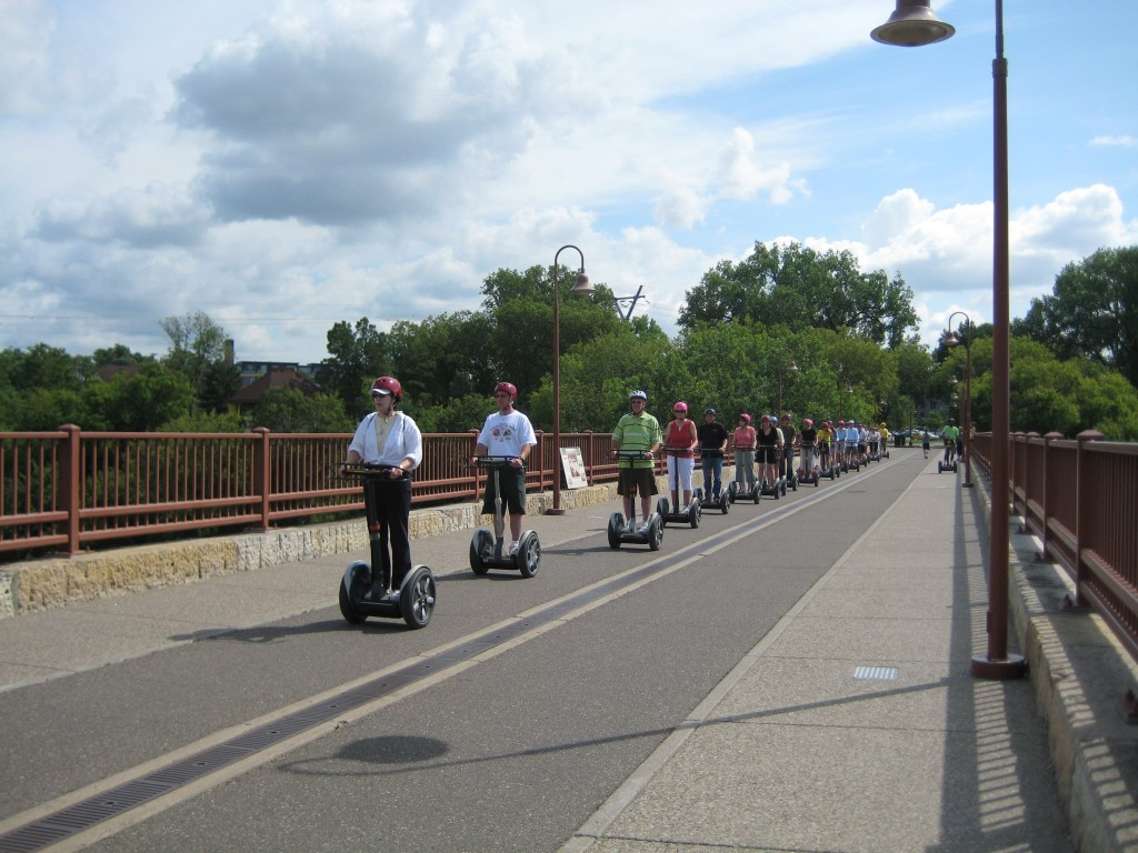 If ya hang out by the river, sooner or later you're gonna run into the Segway Tour....